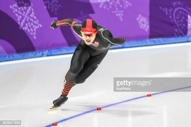 Yang Tao of China 1000 meter speedskating at winter olympics Gangneung South Korea on February 23 2018