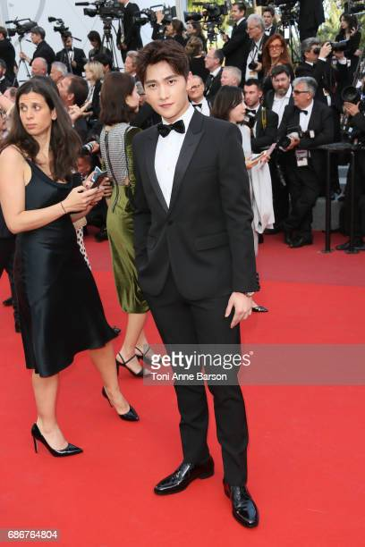 Yang Yang attends the 'The Meyerowitz Stories' screening during the 70th annual Cannes Film Festival at Palais des Festivals on May 21 2017 in Cannes...