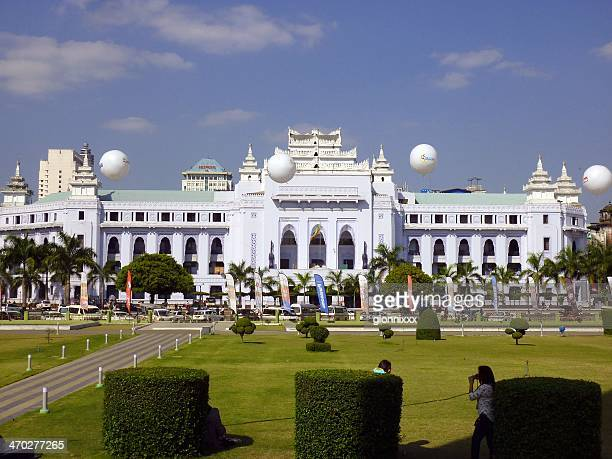 yangon city hall, myanmar - myanmar culture stock pictures, royalty-free photos & images