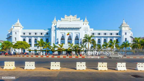 yangon city hall, myanmar - yangon stock pictures, royalty-free photos & images