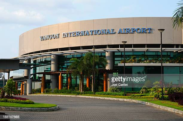 yangon international airport in burma - yangon stock pictures, royalty-free photos & images