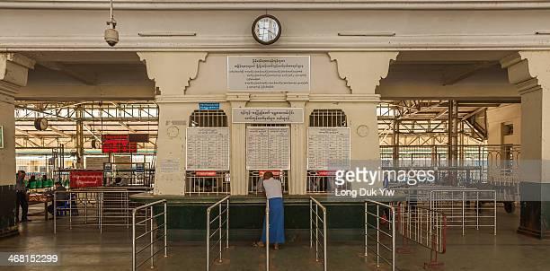 Yangon, Myanamar Jan 12 -Yangon Central Railway Station , located in downtown Yangon, is the largest railway station in Myanmar. It is the gateway to...
