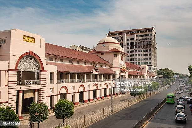 Yangon, Myanmar (Burma). Bogyoke market's facade.