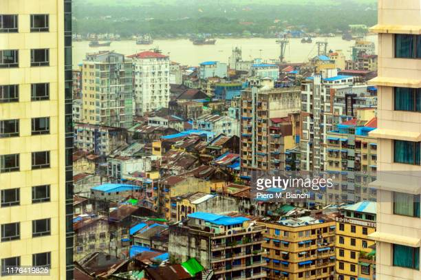 yangon - yangon stock pictures, royalty-free photos & images