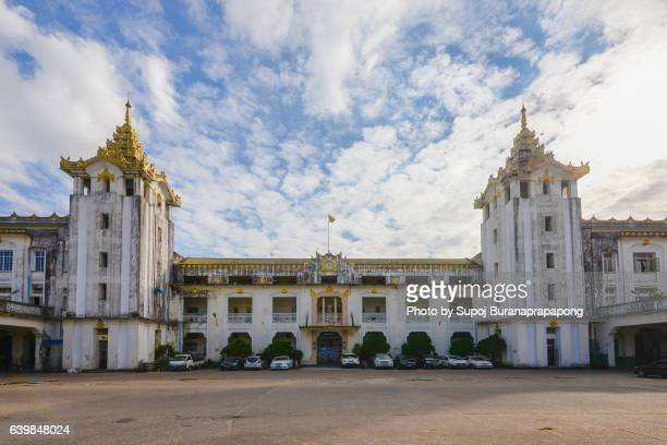 yangon railway station , yangon , myanmar - yangon stock pictures, royalty-free photos & images