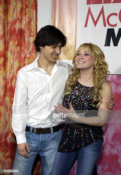 Yani Gellman and Hilary Duff during The Lizzie McGuire Movie Premiere at The El Capitan Theater in Hollywood California United States
