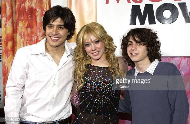 Yani Gellman Hilary Duff and Adam Lamberg during The Lizzie McGuire Movie Premiere at The El Capitan Theater in Hollywood California United States