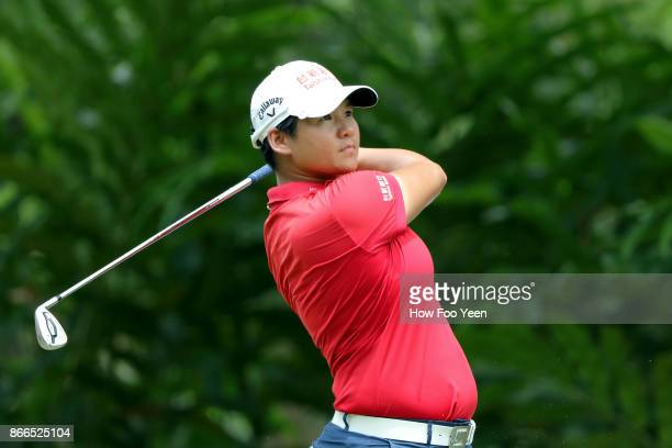 Yani Tseng of Chinese Taipeh in action during day one of the Sime Darby LPGA Malaysia at TPC Kuala Lumpur East Course on October 26 2017 in Kuala...