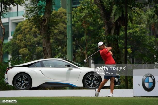 Yani Tseng of Chinese Taipei in action during day one of the Sime Darby LPGA Malaysia at TPC Kuala Lumpur East Course on October 26 2017 in Kuala...