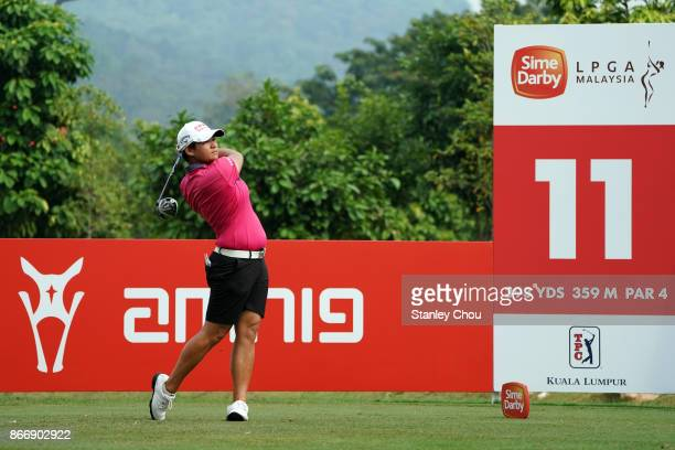 Yani Tseng of Chinese Taipei in action during day two of the Sime Darby LPGA Malaysia at TPC Kuala Lumpur East Course on October 27 2017 in Kuala...
