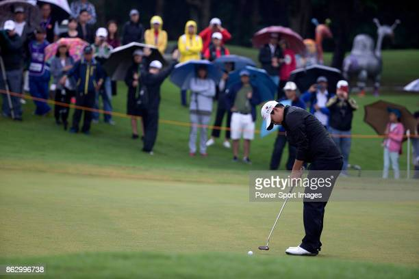 Yani Tseng of Chinese Taipei makes a putt on the second hole during day one of Swinging Skirts LPGA Taiwan Championship on October 19 2017 in Taipei...