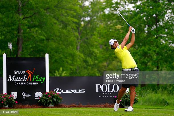Yani Tseng of Taiwan hits her tee shot on the twelth hole during round one of the Sybase Match Play Championship at Hamilton Farm Golf Club on May 19...