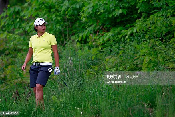 Yani Tseng of Taiwan on the eleventh hole during round one of the Sybase Match Play Championship at Hamilton Farm Golf Club on May 19 2011 in...