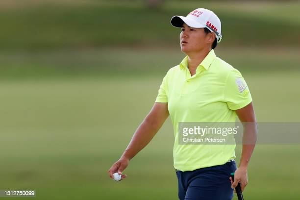 Yani Tseng of Taiwan walks off the 11th green during the second round of the LPGA LOTTE Championship at Kapolei Golf Club on April 15, 2021 in...