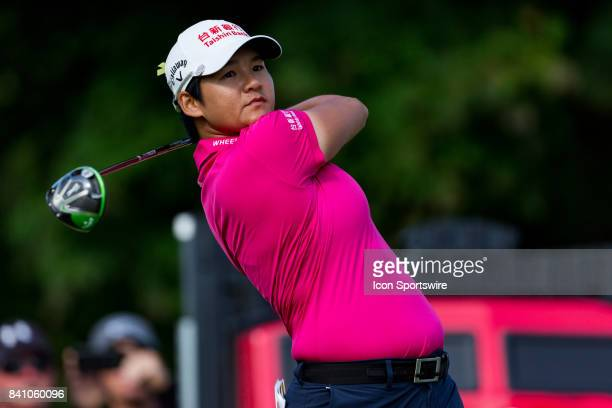 Yani Tseng tees off on the 1st hole during the final round of the Canadian Pacific Women's Open on August 27 2017 at The Ottawa Hunt and Golf Club in...