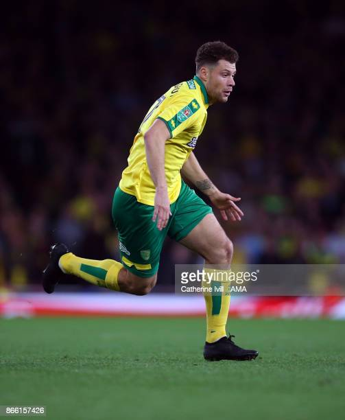 Yanic Wildschut of Norwich City during the Carabao Cup Fourth Round match between Arsenal and Norwich City at Emirates Stadium on October 24 2017 in...