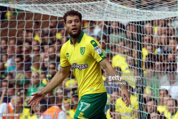 Yanic Wildschut of Norwich City during the Sky Bet Championship match between Norwich City and Sunderland at Carrow Road on August 12 2017 in Norwich...