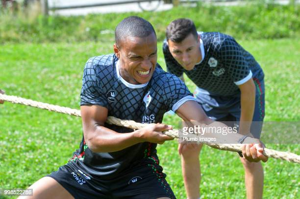 Yanick Aguemon during team bonding activities during the OHL Leuven training session on July 09 2018 in Maribor Slovenia