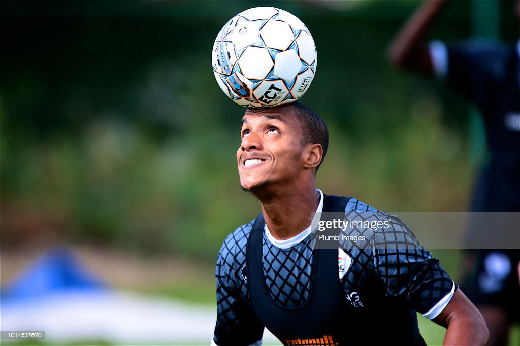 Yanick Aguemon forward of OHL during the OHL training session on August 10th, 2018 in Leuven, Belgium.