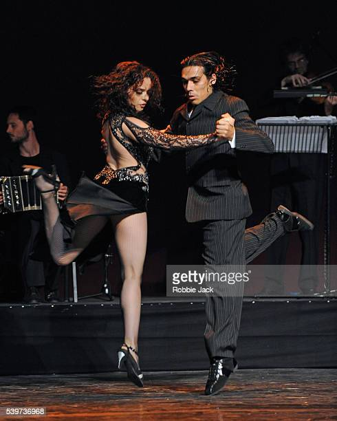 Yanina Fajar and Nelson Celis perform in 'Quejas De Bandoneon' as part of the Tango Fire programme at the Peacock Theatre in London