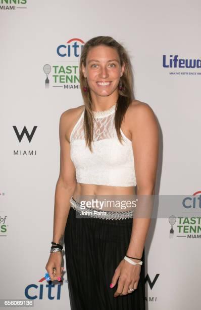 Yanina Wickmayer attends the Citi Taste Of Tennis Miami at W Hotel on March 20 2017 in Miami Florida