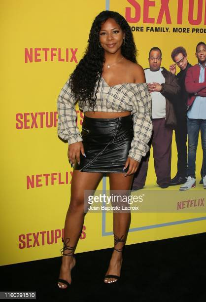 Yanira Pache attends the premiere of Netflix's Sextuplets at ArcLight Hollywood on August 07 2019 in Hollywood California