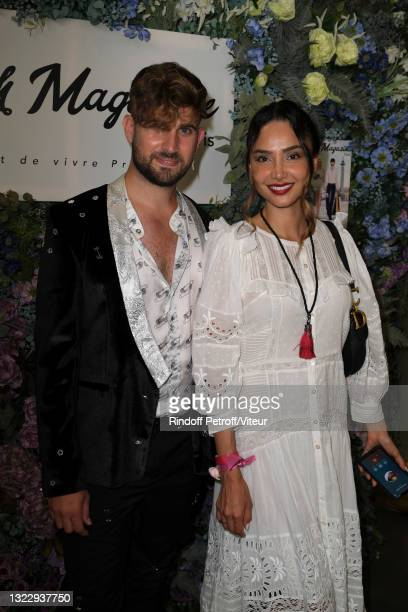 """Yanis Bargoin and Patricia Contreras attend the """"Fresh Magazine"""" launch party on June 10, 2021 in Paris, France."""