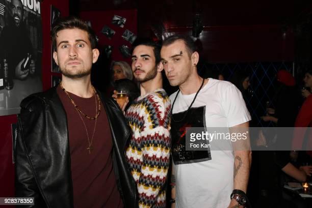 "Yanis Bargoin, Oscar Gordillo and Said Nehari Stolz attend ""Mecs A Poils"" : Stefanie Renoma Exhibition Party at Castel Club - Paris Fashion Week..."