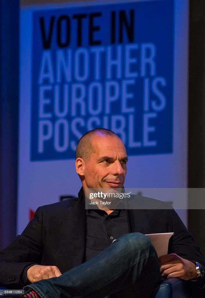 Yanis Varoufakis, former finance minister of Greece, attends a Diem25 event at The UCL, Institute of Education on May 28, 2016 in London, England. Left-wing politicians and thinkers were today campaigning at the DiEM25 event to stay in the European Union ahead of the EU referendum on the 23rd of June.
