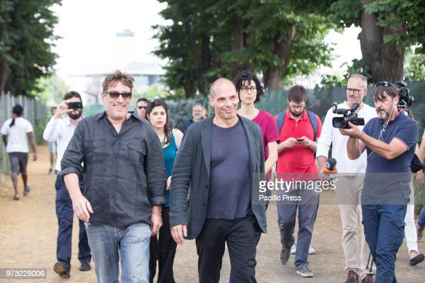 CHIAROMONTE ROMA RM ITALY Yanis Varoufakis former Greek Minister of Finance and leader of DiEM25 European political movement visits the humanitarian...