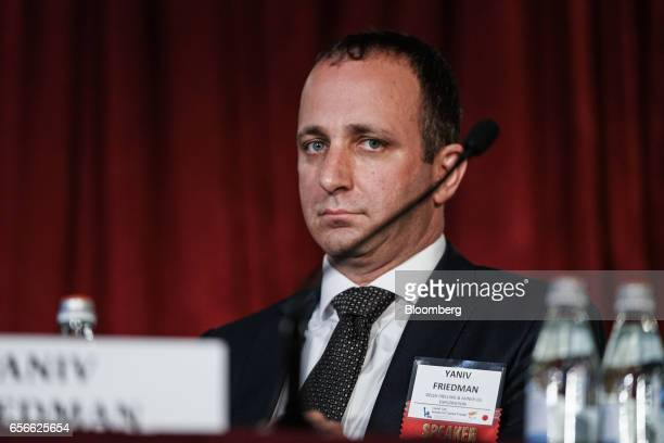 Yaniv Friedman, deputy chief executive officer of Delek Drilling LP, listens during the Capital Link Inc. Invest in Cyprus Forum on Wednesday, March...