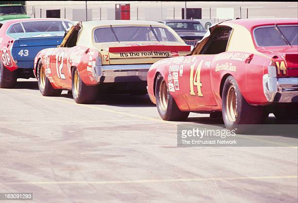 Yankee 400 NASCAR Race Michigan International Speedway Richard Petty's 1972 Dodge Bobby Allison's 1972 Chevrolet and Coo Coo Marlin's 1972 Chevrolet...