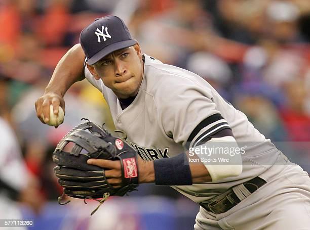 Yankee Alex Rodriguez fields a play