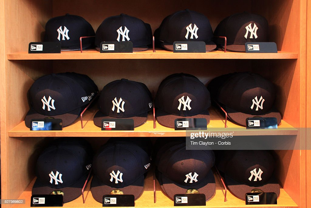 Yankee Baseball hats for sale at the Yankees store at Yankee Stadium The  Bronx during the 68538920df9