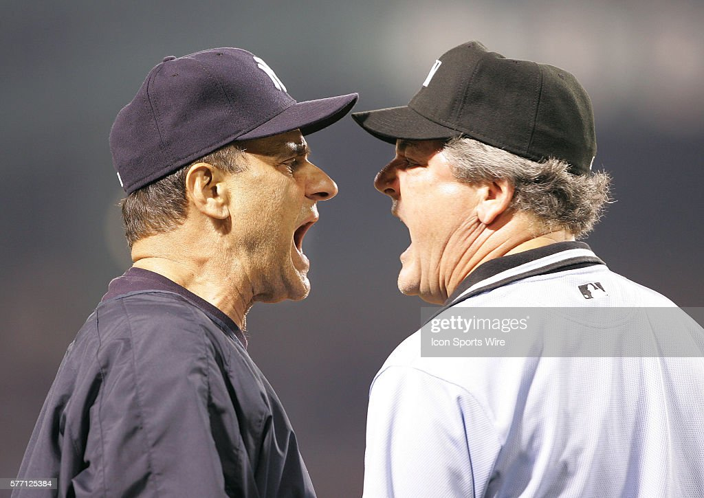 Yankee manager Joe Torre and third base umpire Jerry Crawford argue a...  News Photo - Getty Images