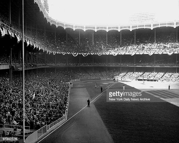 Yankee Stadium crowd at World Series game