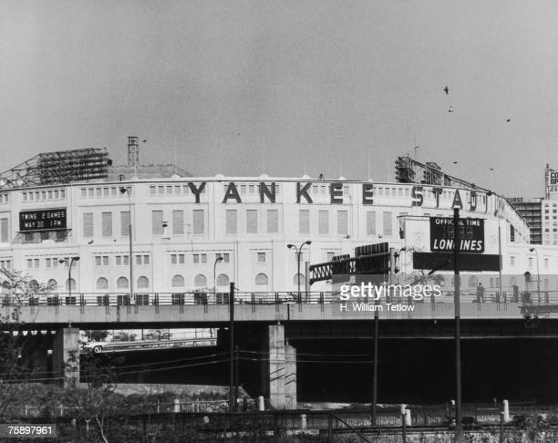 Yankee Stadium in the Bronx New York City circa 1965 The stadium is the home of the New York Yankees baseball team