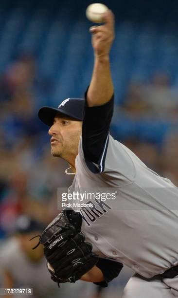 Yankee starter Andy Pettitte. Toronto Blue Jays host New York Yankees at Roger's Centre in Toronto, onAugust 27, 2013.
