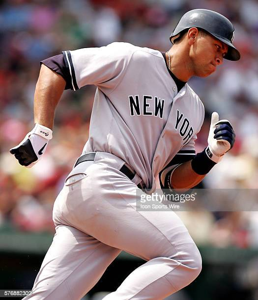 Yankees Alex Rodriguez rounds the bases after hitting a 2run homer in the third inning against the Red Sox at Fenway Park in Boston July 16 2005