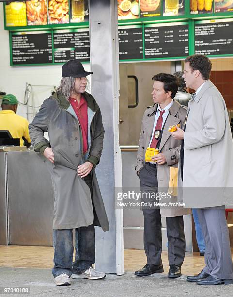 Yankees captain Derek Jeter in disguise as he leaves his pinstripes and World Series rings behind yesterday to don a wig and shabby clothes while...