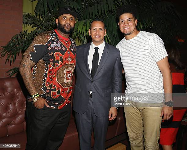 Yankees players CC Sabathia Alex Rodriguez and Dellin Betances attend Amber and CC Sabathia's 5th Annual PitCCh In Foundation CC Challenge rules...