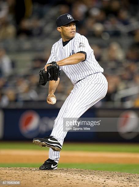 Yankees practice for the first game of the ALDS Yankee closer Mariano Rivera delivers in the 9th inning