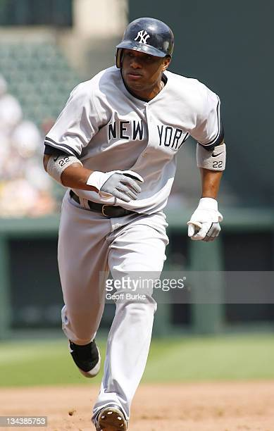 Yankees second baseman Robinson Cano runs to third during the Yankees matchup with the Baltimore Orioles at Camden Yards in Baltimore Maryland on...