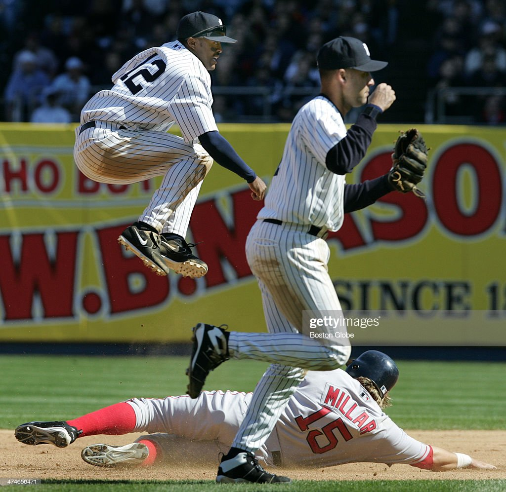 Yankees Shortstop Derek Jeter Pumps His Fist, As He