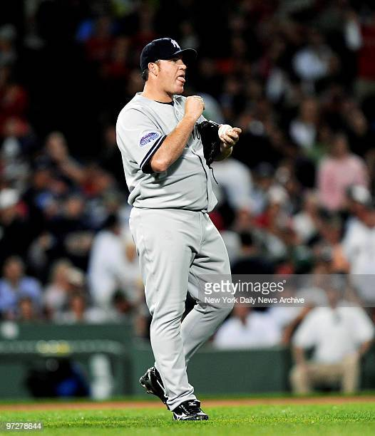 Yankees vs Boston Red Sox at Fenway Park., New York Yankees starting pitcher Sidney Ponson gets tagged foe 3 runs in the 1st inning