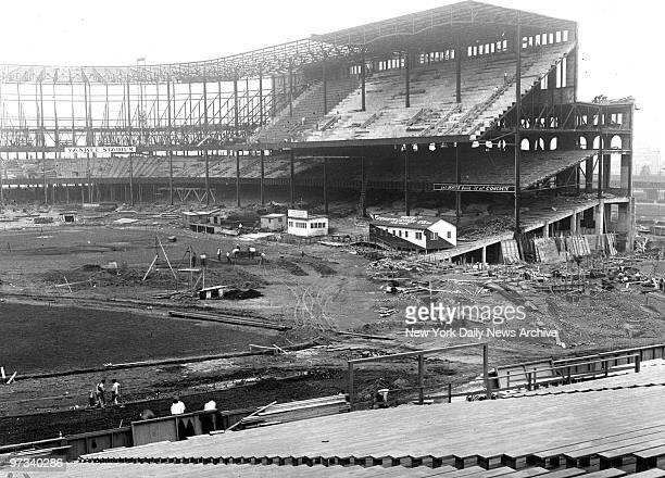 Yankees's new home nearing completion!, General view of the new Yankee Stadium that is nearing completion. Work is progressing rapidly. In the upper...