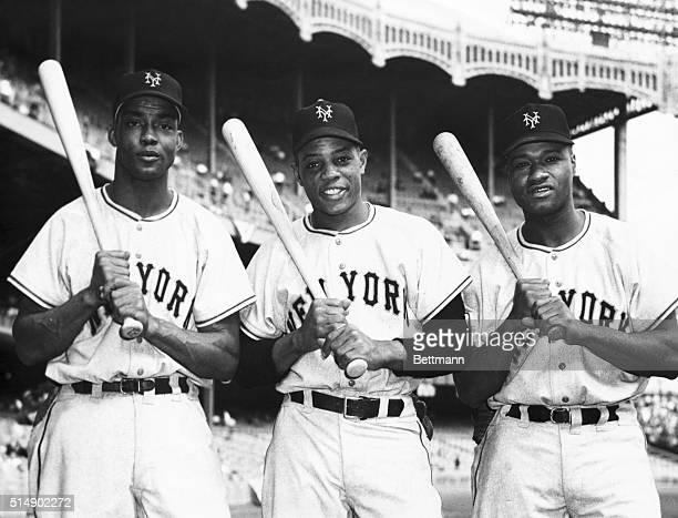 Yanks Vs Giants Second Of Series Here is the first allNegro outfield in World Series history Monte Irvin Willie Mays and Henry Thompson all of the...