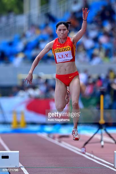 Yanmei Li of China competes in the Women's Triple Jump during the SEIKO Golden Grand Prix 2016 at Todoroki Stadium on May 8, 2016 in Kawasaki, Japan.