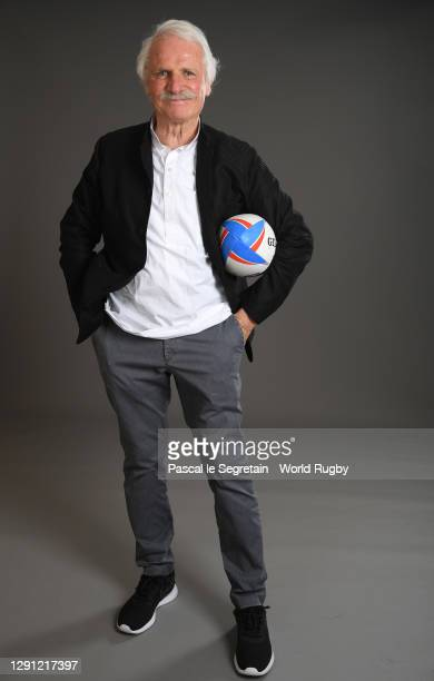 Yann Arthus Bertrand poses for a photo during the Rugby World Cup France 2023 draw at Palais Brongniart on December 14, 2020 in Paris, France