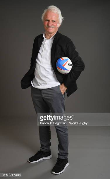 Yann Arthus Bertrandd poses for a photo during the Rugby World Cup France 2023 draw at Palais Brongniart on December 14, 2020 in Paris, France